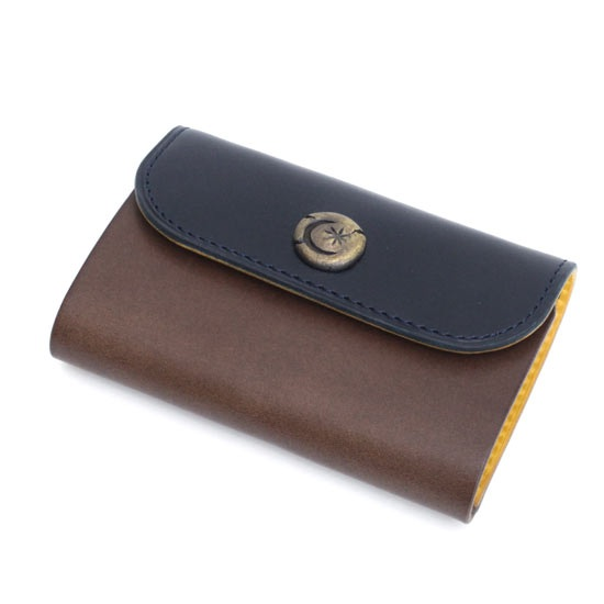 KUBIKI LEATHER KEY CASE (NAVY)