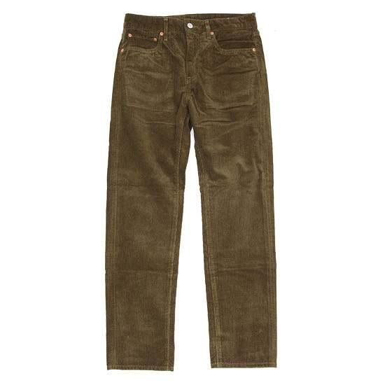 GO WEST ゴーウェスト|ANTIQUE CORDUROY CARROT FIT 5PK PANTS (ウッドグリーン)(テーパードパンツ)