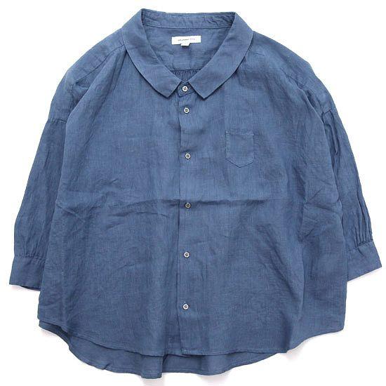 ORDINARY FITS オーディナリーフィッツ レディース BARBAR SHIRT linen (インク)(バーバーシャツ)