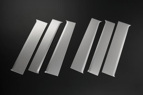 【REIZ(ライツ)】エブリイワゴン/エブリイバン(DA17W/DA17V) 鏡面 ステンレスピラーパネル 6ピース