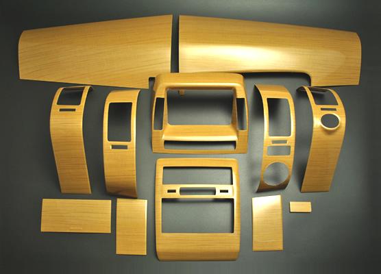 普锐斯 (NHW20) 系列 20 室内面板 12 件设置桉茶木和钢琴黑