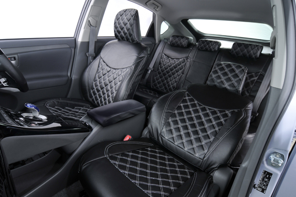 ZVW30 L Grade Prius Quilted Leather Seat Covers