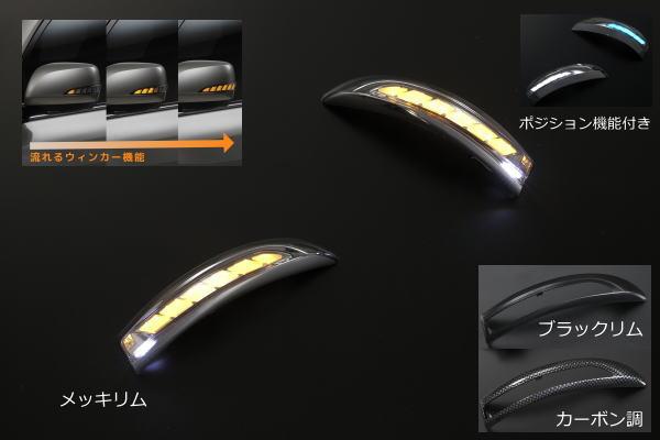 【Revier(レヴィーア)】「流星Ver」「スモークレンズ」フィット(GK3~6)/フィットハイブリッド(GP5/GP6) LEDウインカーレンズキット フットランプ/ポジション機能搭載 //ドアミラー/ウィンカー/GK4/GK5/GK6/フィットRS/フィット3/Fit3