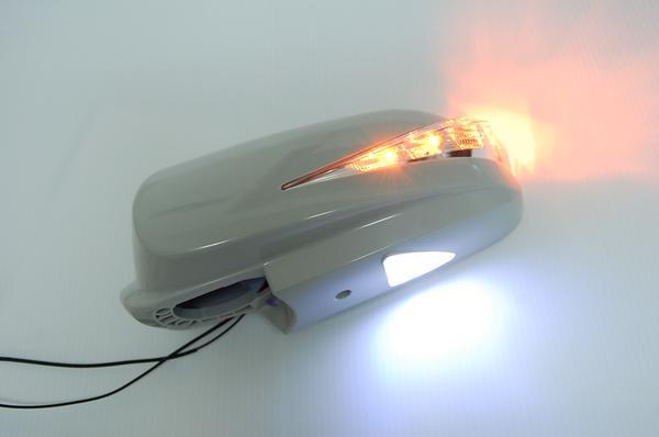 【Revier(レヴィーア)】Y34セドリック/Y34グロリア LEDウインカードアミラー ウェルカムランプ付 純正交換タイプ 未塗装
