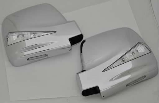 【REIZ(ライツ)】ジムニーJB23(1~5型) LEDウインカードアミラーウェルカムランプ付 純正交換タイプクロームメッキ