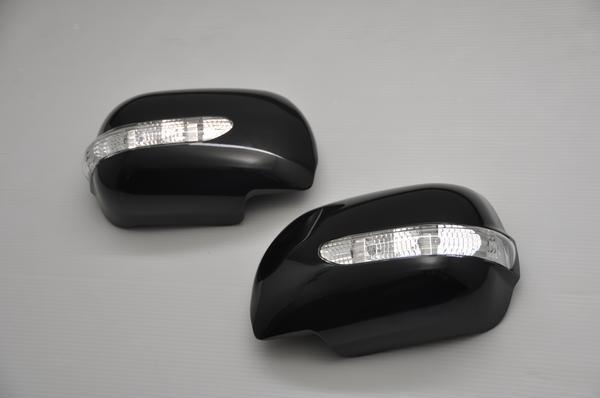 【Revier(レヴィーア)】QNC20系bB前期/QOO LEDウインカードアミラーカバー 純正色X07(ブラックマイカメタリック)塗装済 //ウィンカー/ビービー/クー