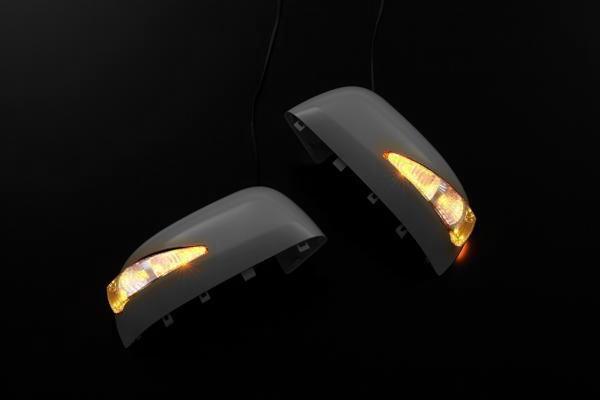 【Revier(レヴィーア)】「QX1塗装済み」ZE0リーフ/N17ラティオ LEDウインカーミラー カバー交換タイプ 左右セット //ウインカードアミラー/サイドターンランプ/ミラーカバー/サイドミラー