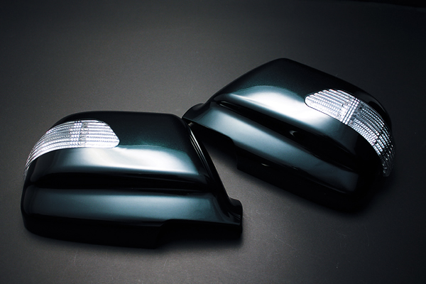 【Revier(レヴィーア)】ランドクルーザー80/LX450 LEDウインカードアミラーカバー 純正交換タイプ!塗装済み