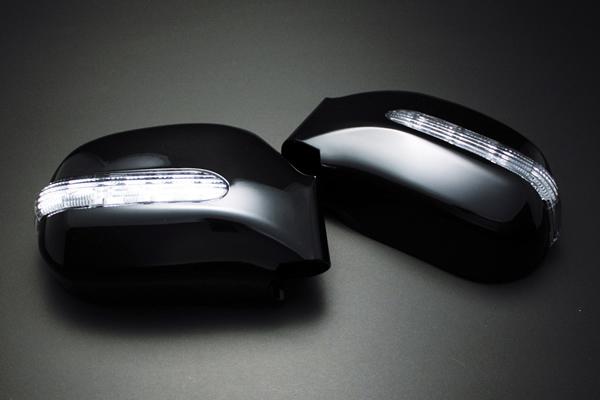 【Revier(レヴィーア)】中後期グランビア LEDウインカードアミラー純正交換式 純正色塗装済 042/057/1C0/199/209