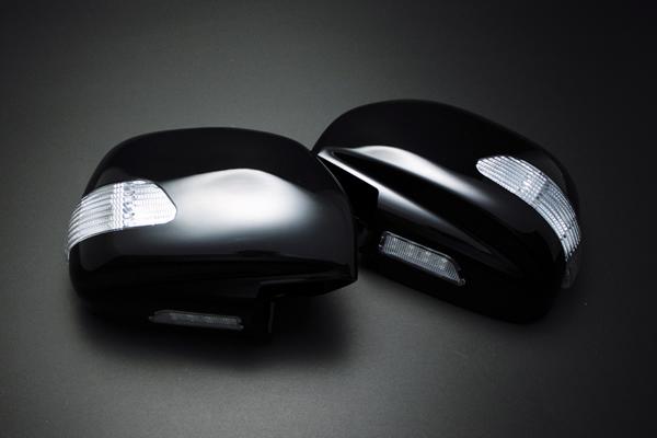【Revier(レヴィーア)】ランドクルーザー100 LEDウインカードアミラーフットランプ付 純正交換タイプ! 純正色057/070/062/202&メッキ ランクル100・シグナス・レクサスLX470