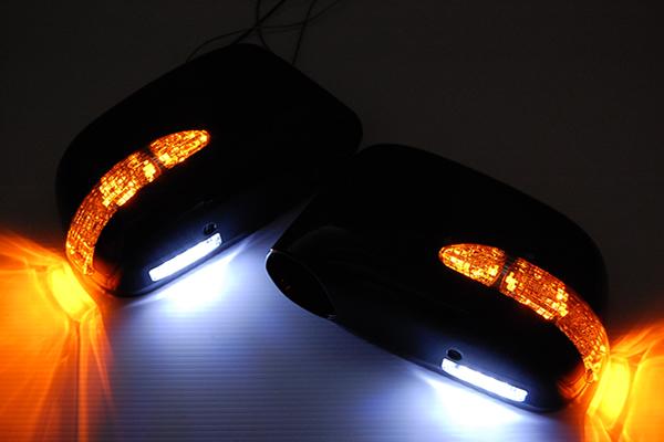 【Revier(レヴィーア)】オデッセイ(RA1~5) LEDウインカードアミラーウェルカムランプ 純正色塗装済みB92P/NH624P/NH578/ クロームメッキ