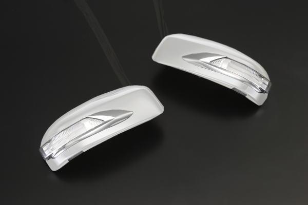 【Revier(レヴィーア)】「未塗装」インフィニティFX30/FX35/FX37/FX50/QX70(S51系)/EX35/EX37/EX50/QX50(J50) LEDウインカーミラー ポジション&フットランプ付 純正交換タイプ //ドアミラー/サイドミラー/ウィンカー/ターン/コーナー/INFINITI