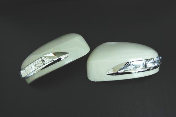 【Revier(レヴィーア)】「未塗装」インフィニティFX30/FX35/FX37/FX50/QX70(S51系)/EX35/EX37/EX50/QX50(J50) LEDウインカーミラー フットランプ付 純正交換タイプ //ドアミラー/サイドミラー/ウィンカー/ターン/コーナー/INFINITI