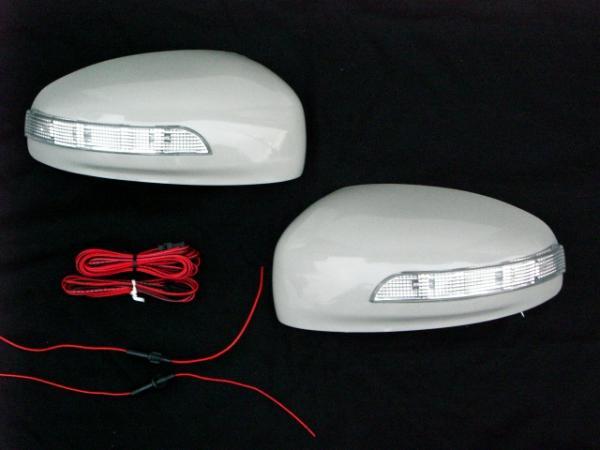 【Revier(レヴィーア)】【未塗装】フーガ(Y50)・ブルーバードシルフィー(G11)・インフィニティー(M35・M45) LEDウインカードアミラーカバー純正交換タイプ //FUGA/日産/ニッサン/NISSAN/ウィンカー/BLUEBIRD/SYLPHY/INFINITI/汎用