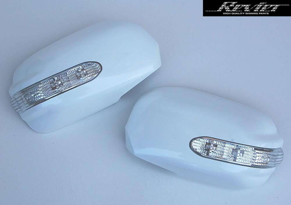 後期30系ウインダム LEDウインカードアミラーカバー純正交換タイプ純正色塗装済み