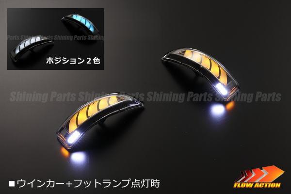 【Revier(レヴィーア)】「流星バージョン」パッソ(M700A/M710A)/ブーン(M700S/M710S) ウインカーミラー用LEDウインカーレンズキット ポジション&フット付 //ドアミラー/サイドミラー/ウィンカー/ターン/コーナー