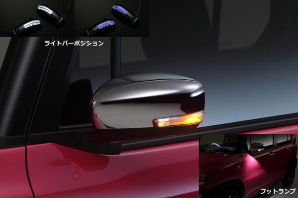 期間限定価格!MH95S/MH55SワゴンR/HA36Sアルト/MR31Sハスラー他 ウインカーミラー用LEDウィンカーレンズキット ウェルカムライト付き スズキ車汎用 //ドアミラー/サイドミラー/サイドマーカー/ターン/コーナー/フェンダー/SUZUKI