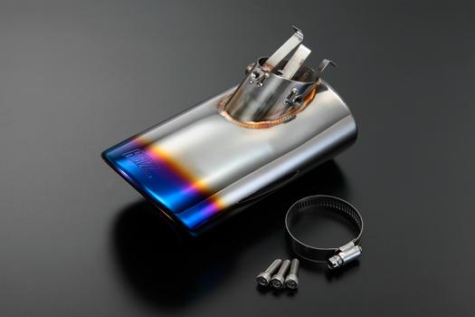 【REIZ(ライツ)】「チタンルック 」ハスラー(MR31S) ステンレス マフラーカッター クロームメッキタイプ //純正/テール/ランプ/グリル/HID/メッキ/LED
