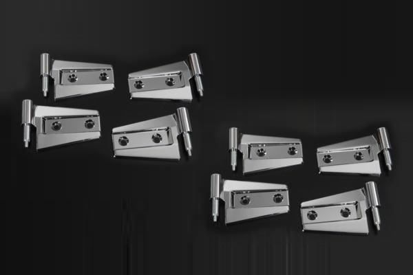 ジープ(JEEP) JK系ラングラー アンリミテッド 4ドア用 メッキビレットドアヒンジ 交換式 //カスタム/Wrangler/Unlimited/Wrangler Unlimited/JK38L/JK36L/JK36LR/メッキパーツ/クローム