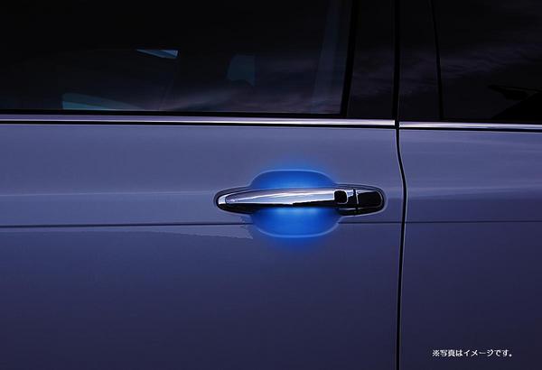 【Revier(レヴィーア)】10系アルファード LEDメッキドアハンドル交換タイプ 間接照明/ブルー光/スマートキー対応