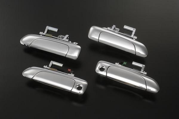 【Revier(レヴィーア)】フィット(GD系) メッキアウタードアハンドル 交換タイプ 鍵穴2つ //FIT/