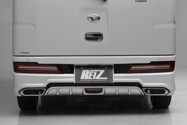 【REIZ(ライツ)】「LEDリアバンパーライト付き」S300系後期アトレーワゴン/ハイゼットカーゴ FRP製リアバンパースポイラー(未塗装) //S321G/S331G/S321V/S331V/エアロパーツ/フロントエアロ