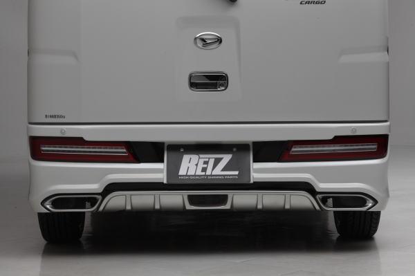 【REIZ(ライツ)】「リアバンパーライト無し」S300系後期アトレーワゴン/ハイゼットカーゴ FRP製リアバンパースポイラー(未塗装) //S321G/S331G/S321V/S331V/エアロパーツ/フロントエアロ