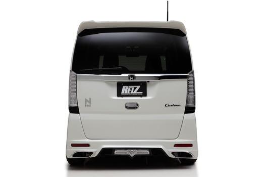 【REIZ(ライツ)】N-BOXカスタム(JF1/JF2) リアバンパースポイラー 未塗装 //エヌ/n-box/n
