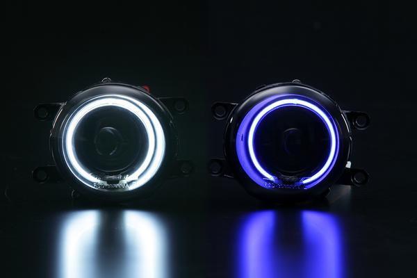【Revier(レヴィーア)】「全4種」150系オーリス後期/カローラルミオン後期 CCFLイカリングプロジェクターフォグランプ //TOYOTA/トヨタ/汎用2/デイ/ライト/ション/ガラス/クリア/スモーク/ホワイト/ブルー/NZE15#/ZRE/ZRE/NZE/151/auris/COROLLA/RUMION
