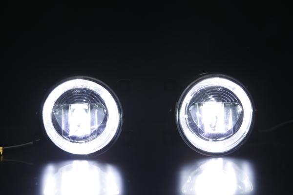 VW ゴルフ5 GTI/シロッコ/up!(アップ!) ハイパワーLEDフォグランプ(LEDデイライト) 左右セット 純正交換 10W CREE イカリング付 //DRL/イカリング/フォルクスワーゲン/volkswagen/GOLF5/ゴルフV/Scirocco/汎用/カスタムパーツ