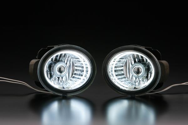 【Revier(レヴィーア)】Z50 ムラーノ CCFLイカリングフォグランプ //CCFLカラー/ホワイト光 //MURANO/フロント/丸型/丸フォグ