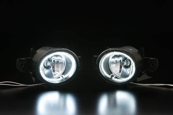 【Revier(レヴィーア)】Y50 フーガ CCFLイカリングフォグランプ //CCFLカラー/ホワイト光 //FUGA/フロント/丸型/丸フォグ