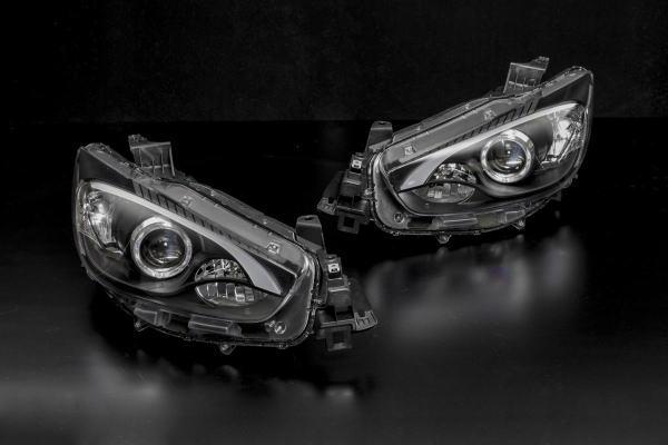 「限定5セット価格!」マツダ KE系CX-5(HID車)前期 LEDファイバープロジェクターヘッドライト 左右セット 純正交換タイプ //ヘッドランプ/MAZDA/CX5/イルミネーション/カスタムパーツ/ディスチャージ