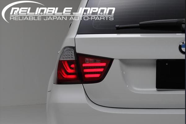「限定5セット!!」【在庫処分セール】【RELIABLE JAPAN(リライアブルジャパン)】BMW E91 後期 ステーションワゴン 3Dライトバー仕様 LEDテール //レッドクリアレンズ/レッドスモーク/オールスモーク