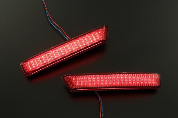 【REIZ(ライツ)】【反射機能+2段階点灯】バモス(HM1/HM2)後期 LEDリアバンパーライト(リフレクター) //ワゴン/WAGON/VAMOS/ホンダ/HONDA/汎用/反射板/ヴァモス/レッド/スモーク
