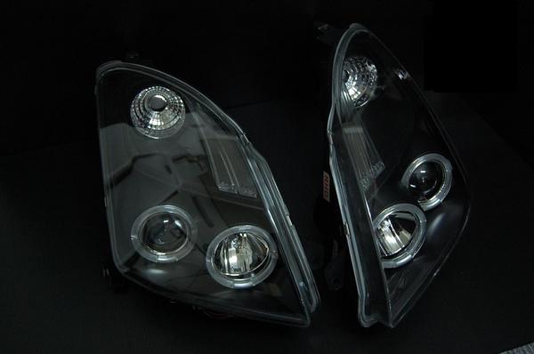 「全2色」スイフト(ZC系) LEDイカリング付プロジェクターヘッドライト //ランプ/SWIFT/ZC11/ZC21S/ZC71/インナー/ブラック/クローム/メッキ