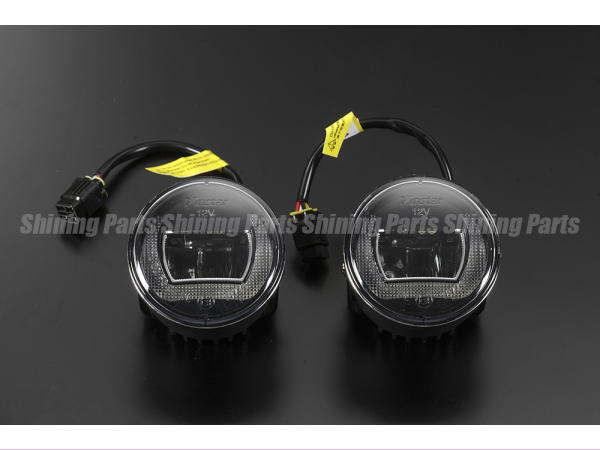 CREE製LED採用 70mm 汎用ハイパワーLEDフォグランプ デイライト機能内蔵 ステー付属 12V/24V対応 Eマーク取得 H8/H11/HB3/HB4 //DIY/Light/DRL/ポジション/ホワイト/フォグライト/カスタムパーツ/