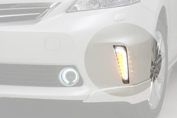 【Revier(レヴィーア)】「Ver1」40系 プリウスα 前期 LEDライトバー付フロントウインカーレンズ //PRIUS/ウィンカー/アルファ/コーナー/ライト/ランプ