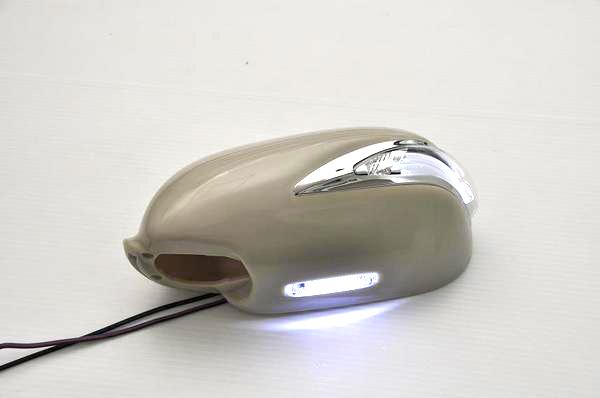 【Revier(レヴィーア)】ステージア(M35) LEDライトバーLS600ルックメッキリム付 LEDウインカードアミラー フットランプ付純正交換タイプ未塗装