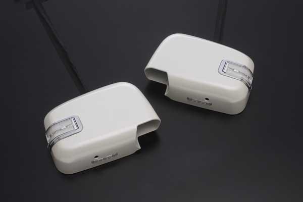 前期185系ハイラックスサーフ LEDライトバーメッキリム付 LEDウインカードアミラー フットランプ付純正交換式 未塗装 LEDウインカーミラー/LEDドアミラー LEDドアミラーウィンカー/