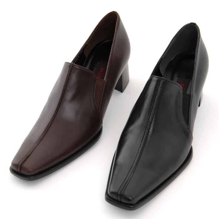 【FRATELLO】かっこいい&歩きやすい靴です!カーフでできた定番シューズ/カーフ・ヒール4.5cm