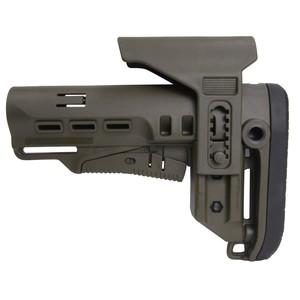 DLG Tactical バットストック TBSタクティカル チークピース付 M4対応 ミルスペック [ グリーン ] TACTICAL Mil-Spec MIL規格 銃床 リトラクタブル アジャスタブル チークレスト チークパッド ガンパーツ トイガン カスタマイズ カスタムパーツ