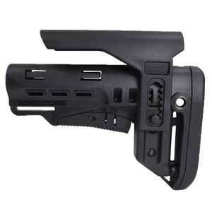 DLG Tactical バットストック TBSタクティカル チークピース付 AR15対応 [ ブラック ] TACTICAL 商用グレード 銃床 リトラクタブル アジャスタブル チークレスト チークパッド ガンパーツ トイガン カスタマイズ カスタムパーツ