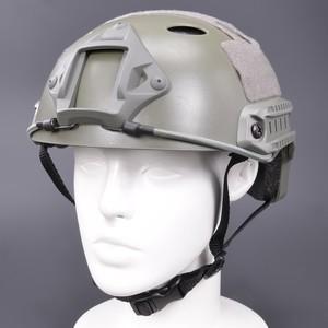 タクティカルヘルメット FAST Carbonタイプ レイルマウント付 [ フォリアージュグリーン ] コンバットヘルメット ミリタリーグッズ ミリタリー用品 サバゲー装備