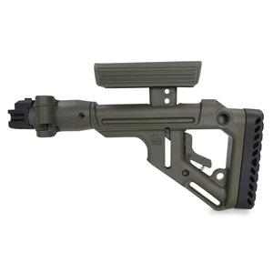 FABディフェンス 実物 折りたたみバットストック AKM-47用 チークピース付き [ グリーン ] DEFENSE ライフル用ストック UAS-AK P 装備品 トイガンパーツ モデルガンパーツ カスタムパーツ