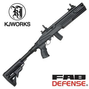KJ WORKS ホークアイ タクティカルショーティー FAB DEFENSEカスタム GLR KJワークス KJ11B HAWK EYE ファブディフェンス ガスライフル銃 ガスブロライフル ガスブローバックライフル 自動小銃 アサルトライフル ガスカービン銃 遊戯銃