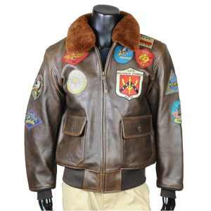 b9e3299a624 Outdoor imported goods Repmart  AVIREX G-1 leatherette jacket top ...