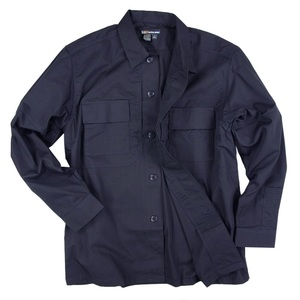 5.11タクティカル TDU 長袖シャツ 72054 [ ダークネイビー / Mサイズ ] TDUシャツ ミリタリーシャツ ワイシャツ 長そで アーミーシャツ