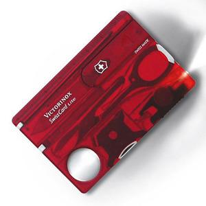 VICTORINOX マルチツール 0.7322.T2 スイスカードライトT2 BL [ クリアレッド ] Victorinox SwissCardLite ツールナイフ 十徳ナイフ キャンピングナイフ 万能ナイフ