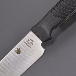 Spyderco菜刀实用程序小刀黑色K04BK supaidarukosandoitchinaifukitchinnaifu水果刀水果刀格挡小刀方面蝴蝶